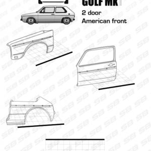 trim molding golf mk1